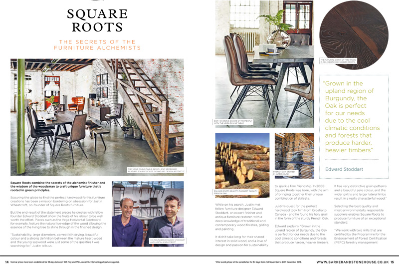 05 Sep Square Roots In This Months Barker U0026 Stonehouse Brochure